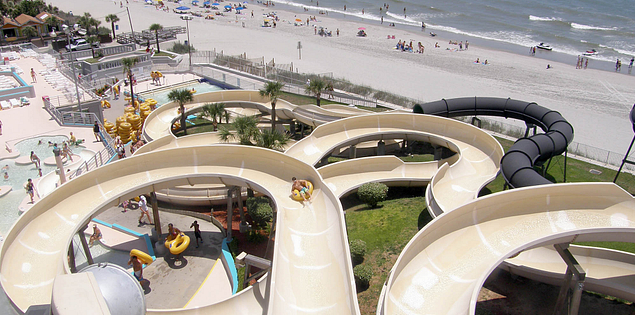 South Carolina Waterslides at Myrtle Beach