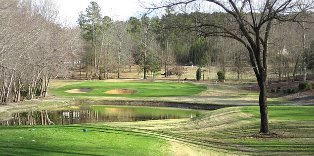 Sixteenth hole at Beech Creek near Camden, South Carolina
