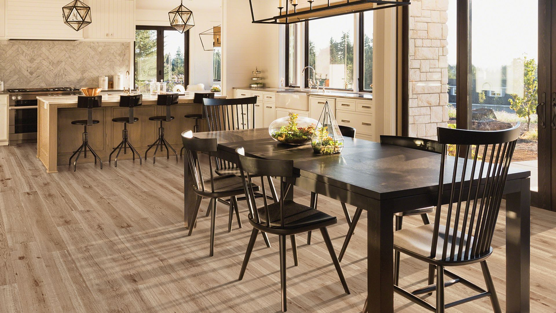 Hopewell Oak EVP Vinyl Flooring Product Scene