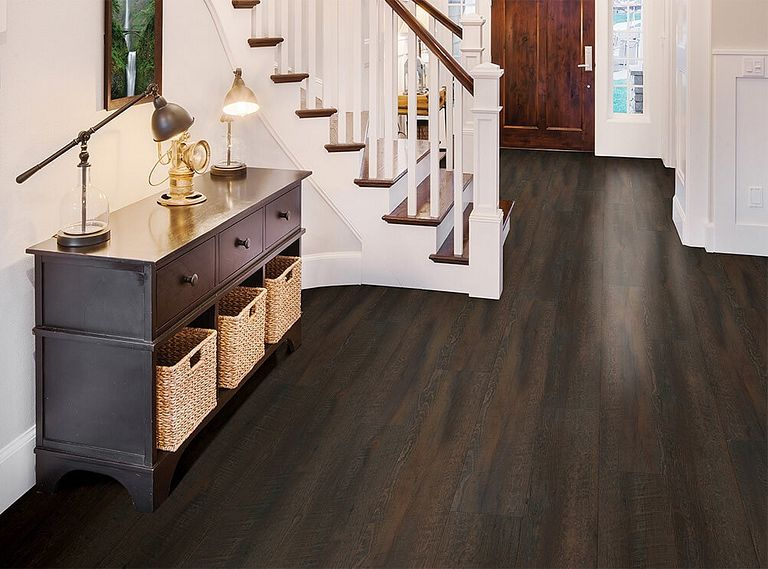 MISSION OAK EVP Vinyl Flooring Room Scene
