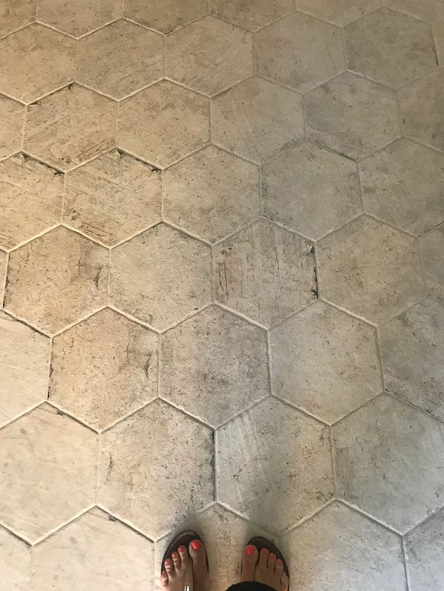 Designer Spotlight Flooring is not Boring Hex Floor.JPG