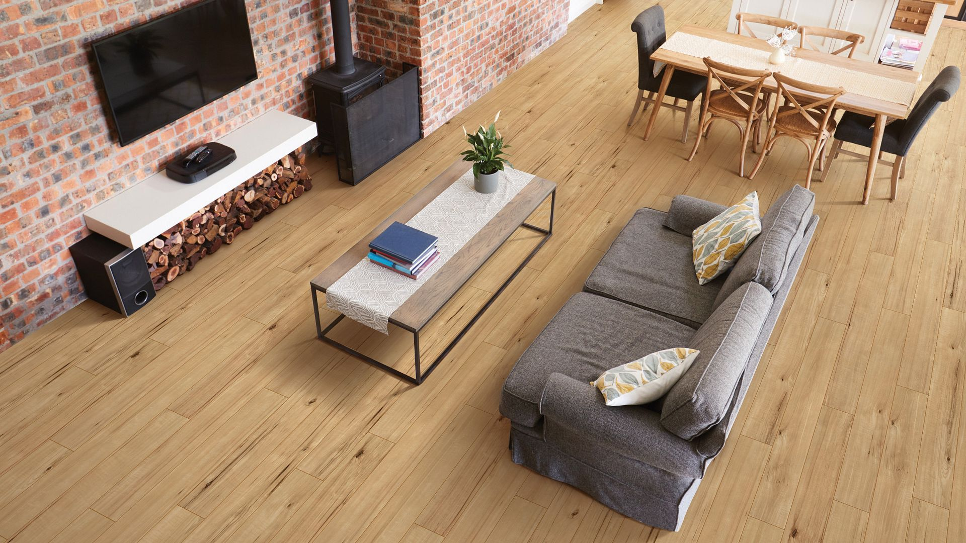 Kobuk Valley Hickory EVP Vinyl Flooring Product Scene