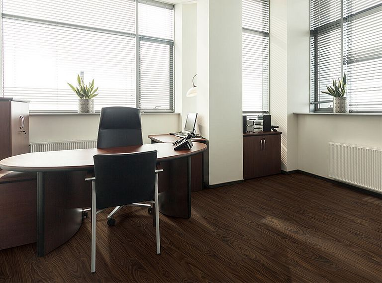 BLACK WALNUT EVP Vinyl Flooring Room Scene