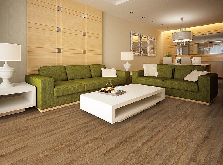 Dakota Walnut EVP Vinyl Flooring Room Scene