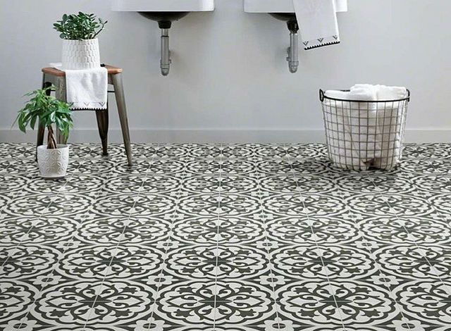 Designer Spotlight Pattern to the People Patterned Bath Floor.JPG