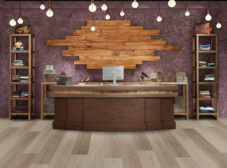 Preston Ash EVP Vinyl Flooring Room Scene