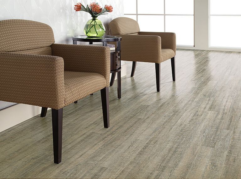 BOARDWALK OAK EVP Vinyl Flooring Room Scene