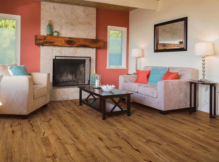 CROWN MILL OAK EVP Vinyl Flooring Room Scene