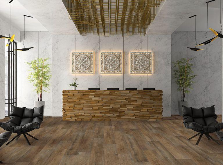 Santiago Hickory EVP Vinyl Flooring Room Scene