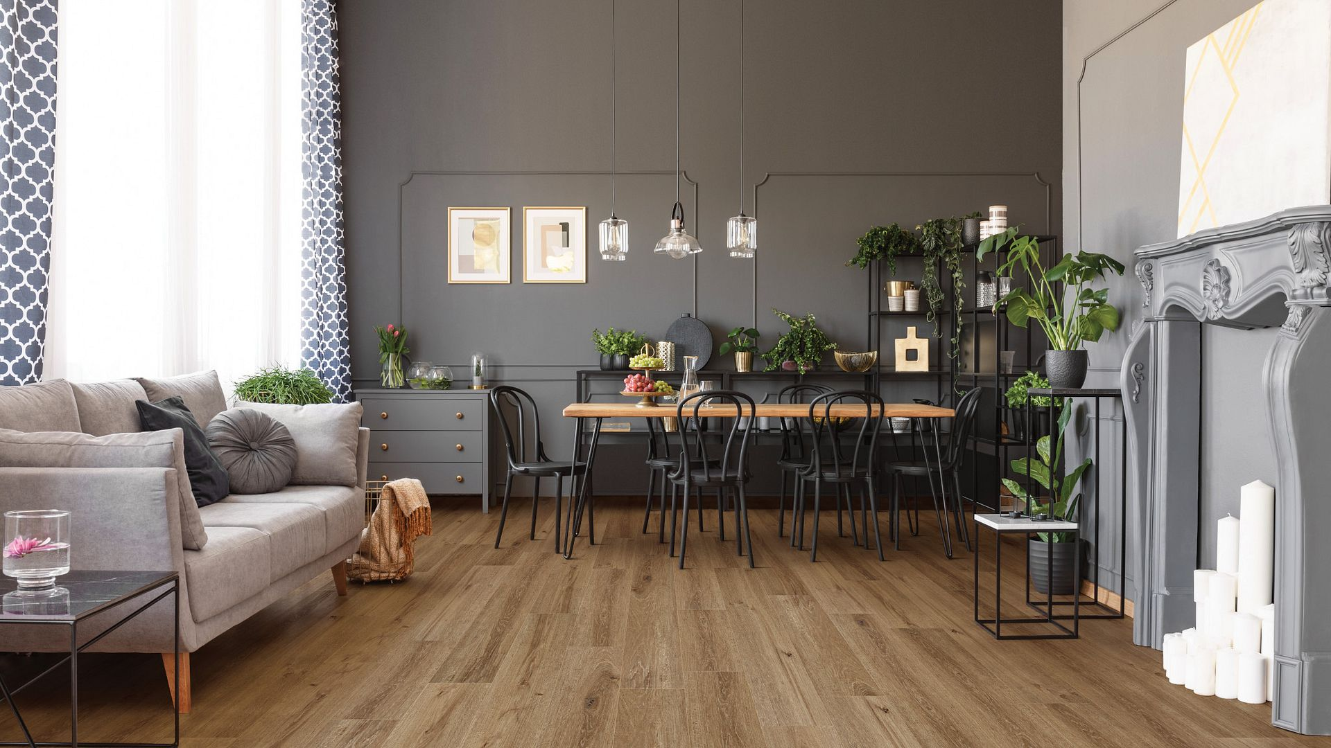 Grande Goldin Oak EVP Vinyl Flooring Product Scene