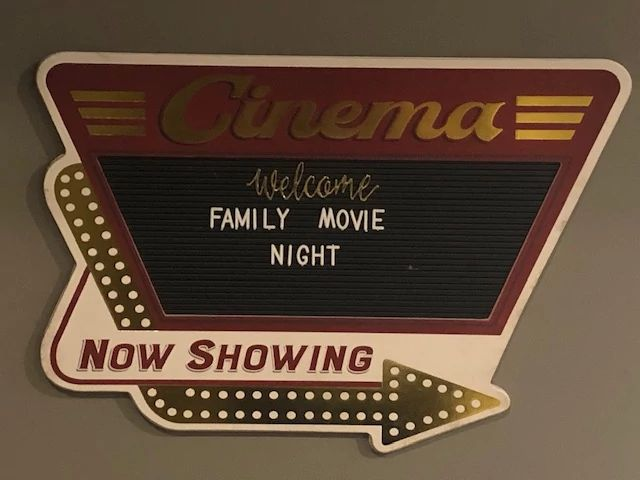 Designer Spotlight Family Movie Night Cinema Sign.JPG