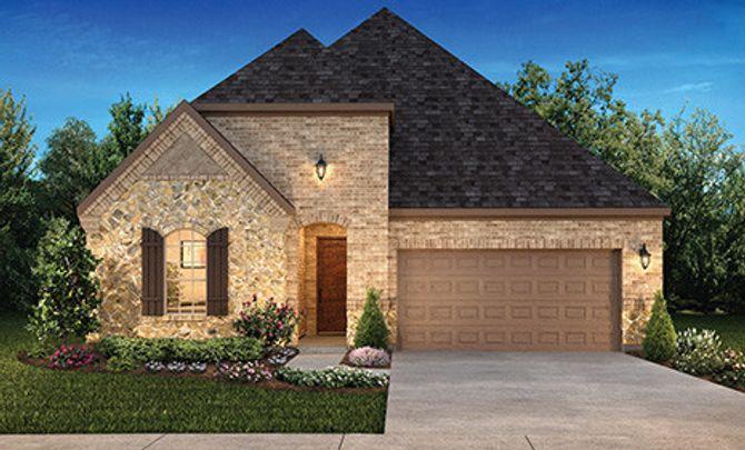 Plan 4117 Elevation B: Texas Traditional