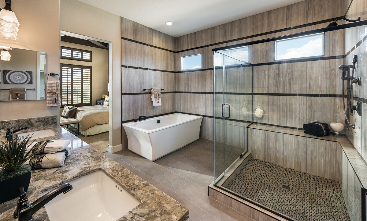 Rhythmic Model Master Bathroom