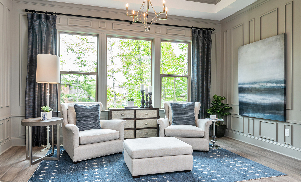 Amherst plan Owner's Suite w/ Sitting Room option