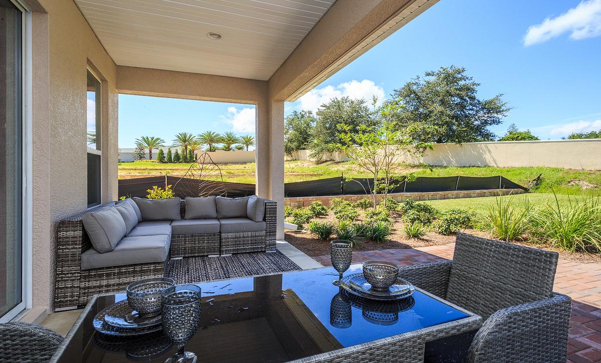 Trilogy Orlando Affirm Model Home Covered Lanai