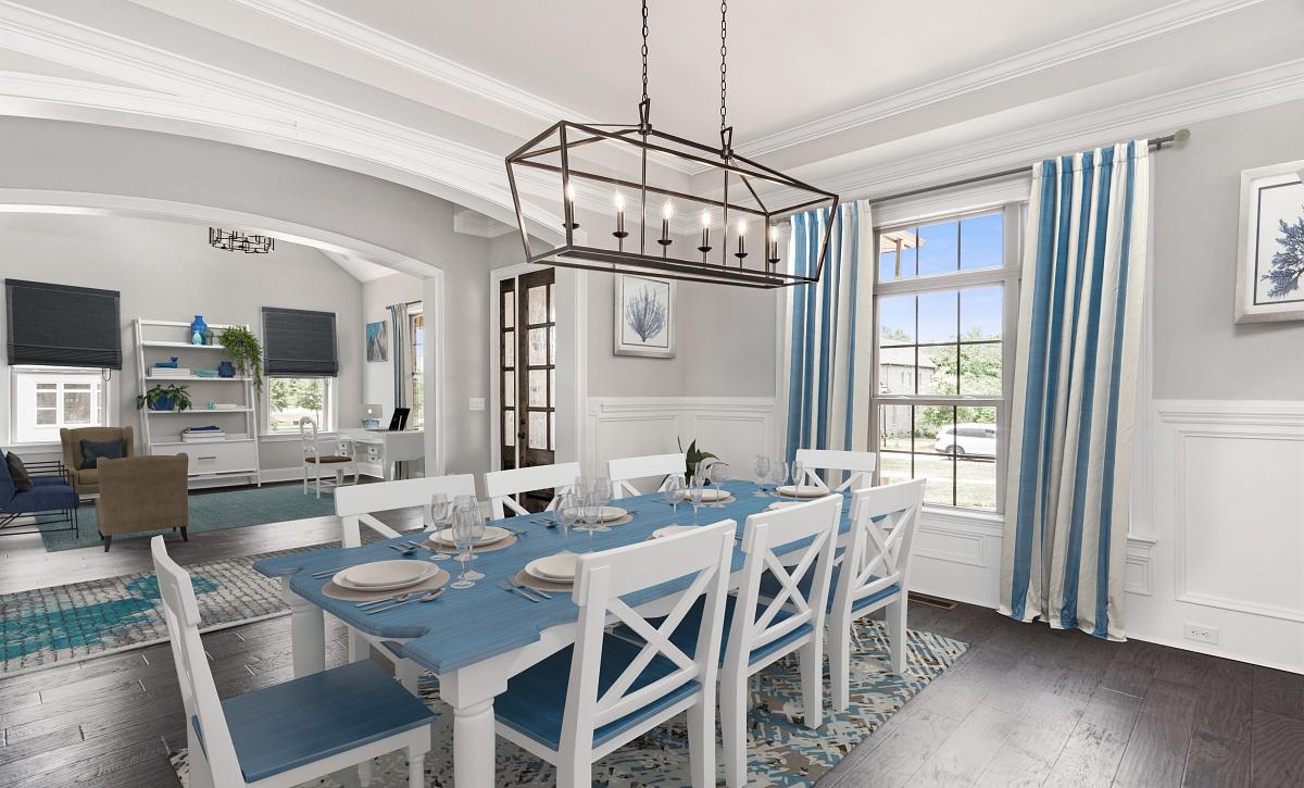 Preston plan Dining, Foyer, Living Room