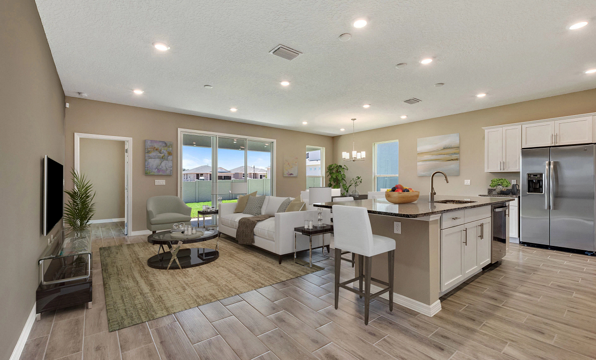 Trilogy Orlando Quick Move In Affirm Virtually Staged Great Room