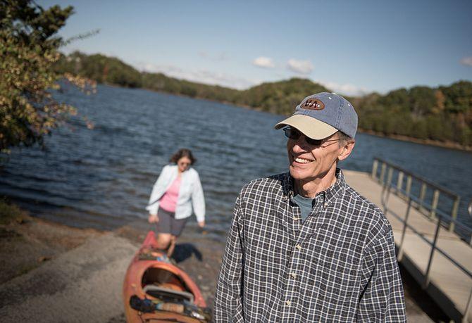 Kayak at Lake Frederick