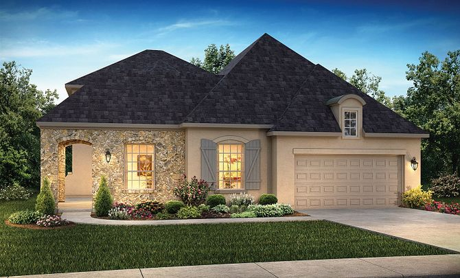 Plan 5129 Exterior C: French Country