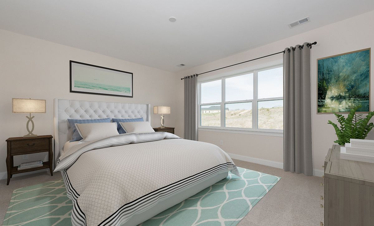 Trilogy Lake Norman Quick Move in home Virtually Staged Master Bed