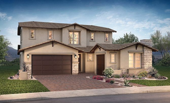 Plan Excite Exterior D: Contemporary Craftsman
