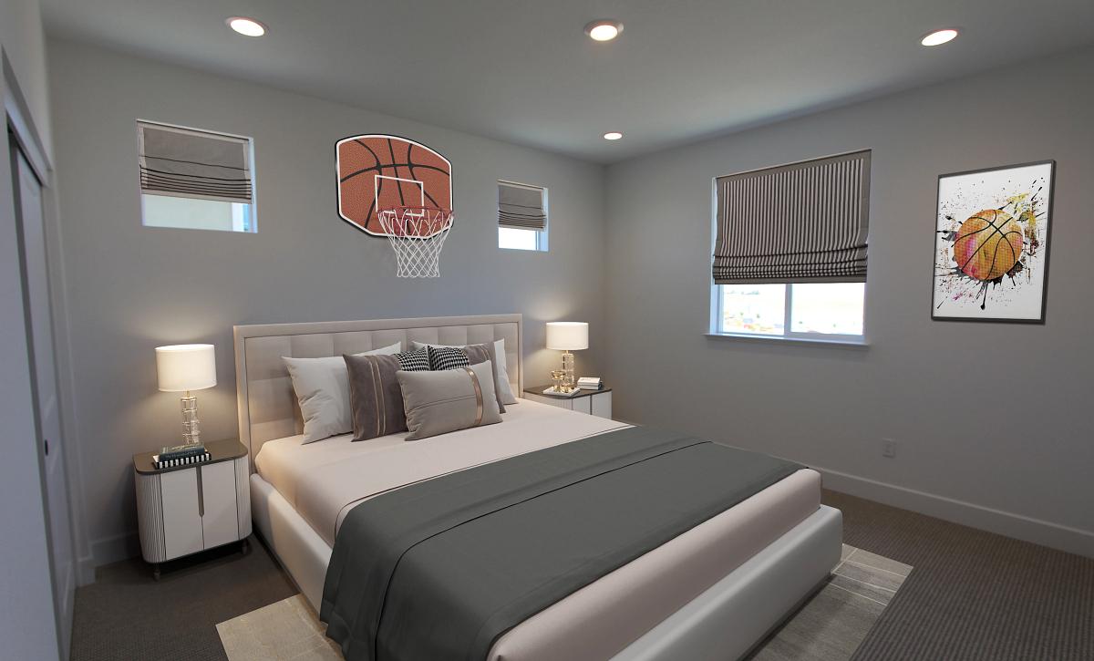 Plan 4 Bedroom 3 Virtual Staging