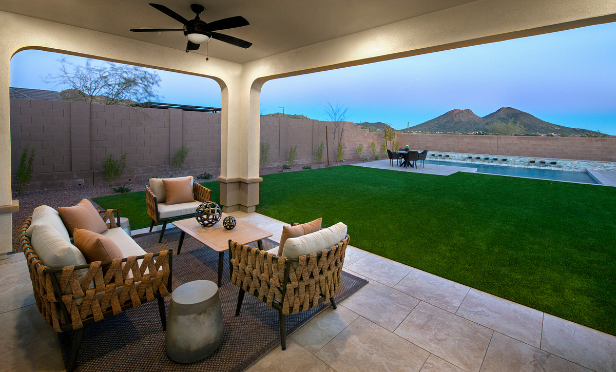 Ascent at Aloravita Plan 4014 Backyard