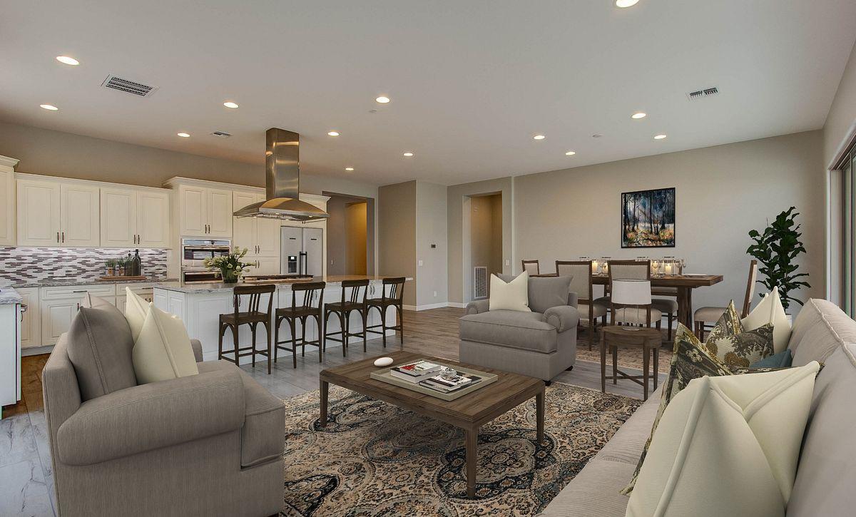Virtually Rendered Open Floor Plan
