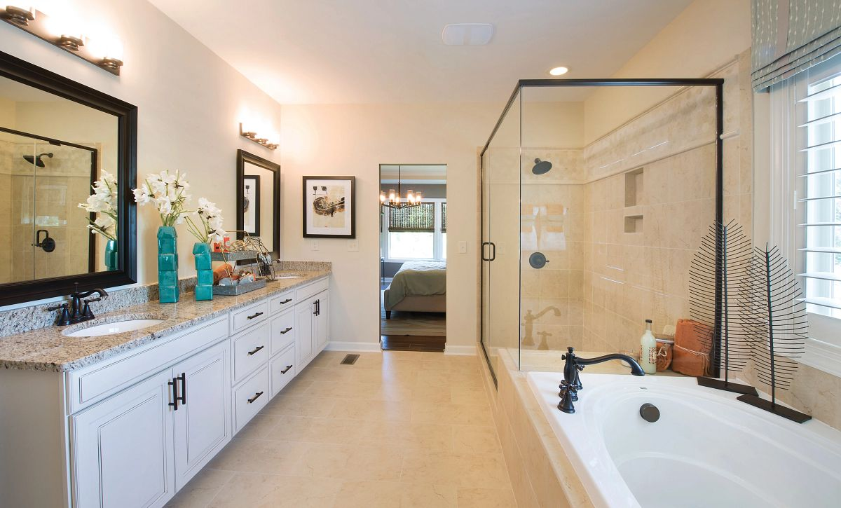 Redwood plan Owner's Bath (example image)