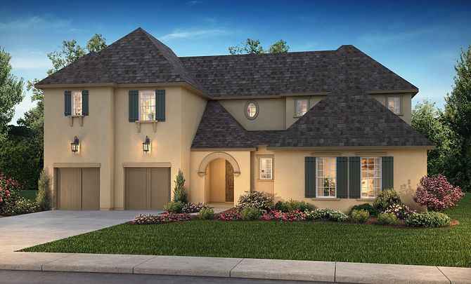 Plan 6050 Exterior B: French Country