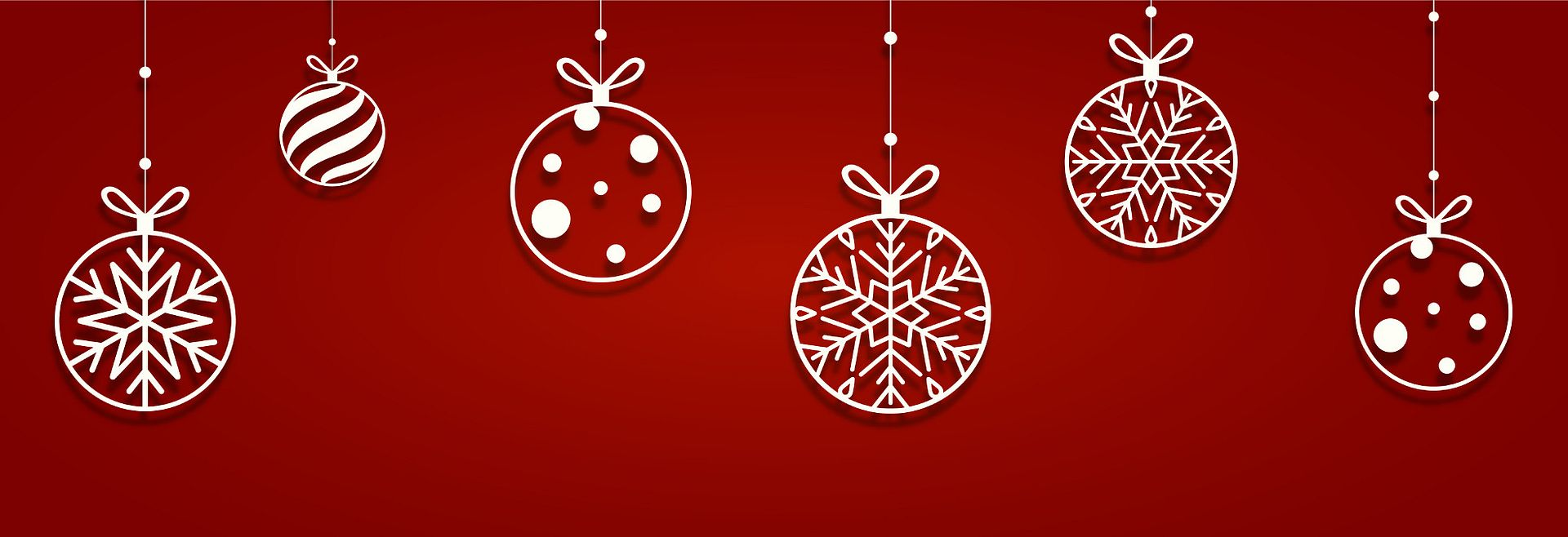 Holiday Ornaments hanging
