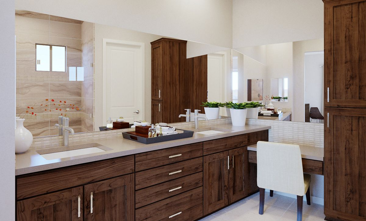 Trilogy Summerlin Summit Master Bath Rendering