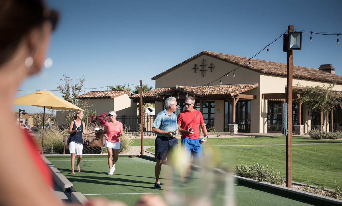 Trilogy Homeowners Playing Bocce