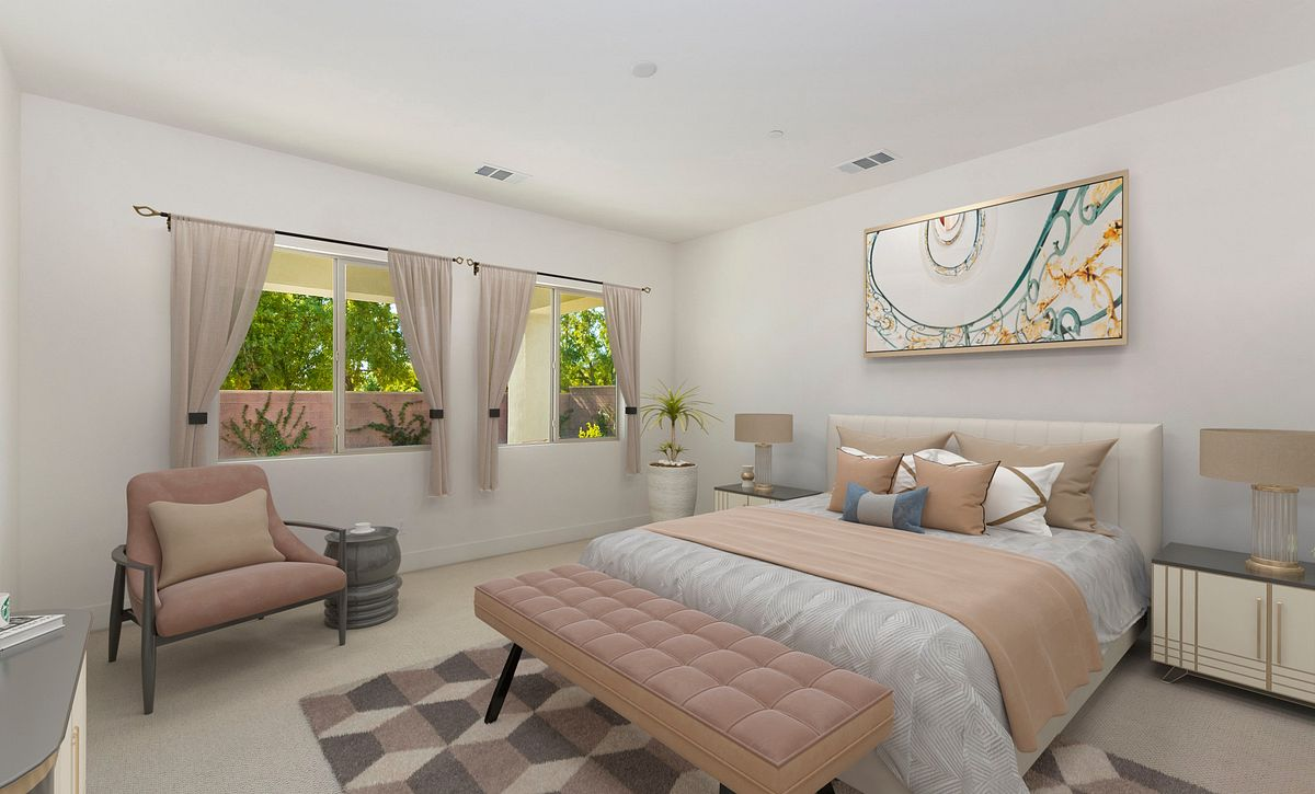 Trilogy Polo Club Liberty Virtually Staged Master Bedroom