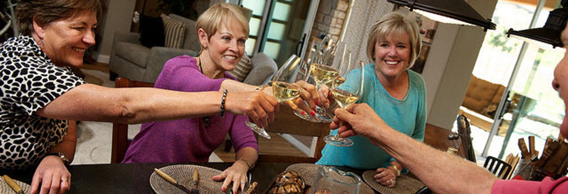 Group of Women Toasting With Wine