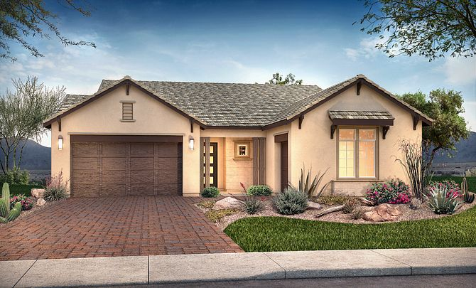 Plan 5013 Exterior C: Hill Country