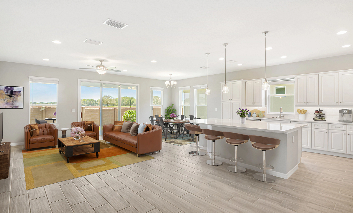 Trilogy at Ocala Preserve Quick Move-In Home Virtually Staged Great Room