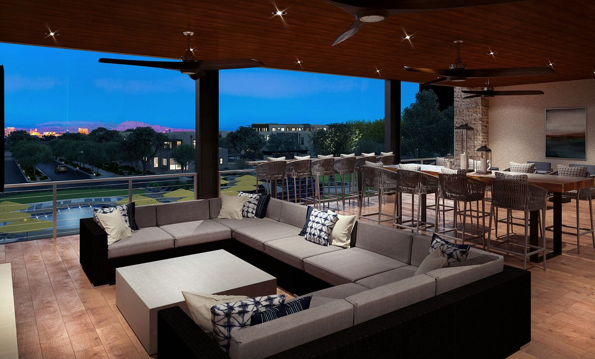 Trilogy in Summerlin Outdoor Sports Deck