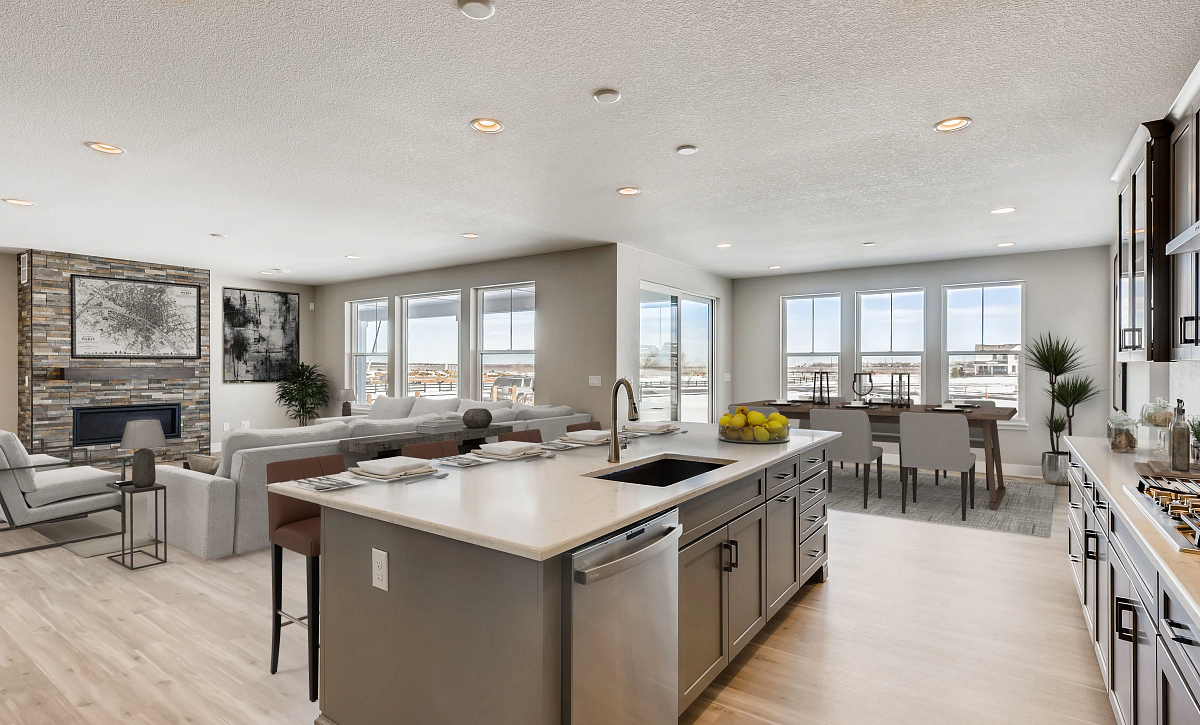 Solstice Trails Edge Waterton Kitchen, Great Room, Dining