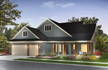 Trilogy at Lake Frederick Hensely Front Exterior Contemp Cape Cod Exterior