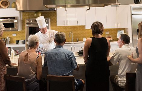 Chef Demo in the Culinary Kitchen