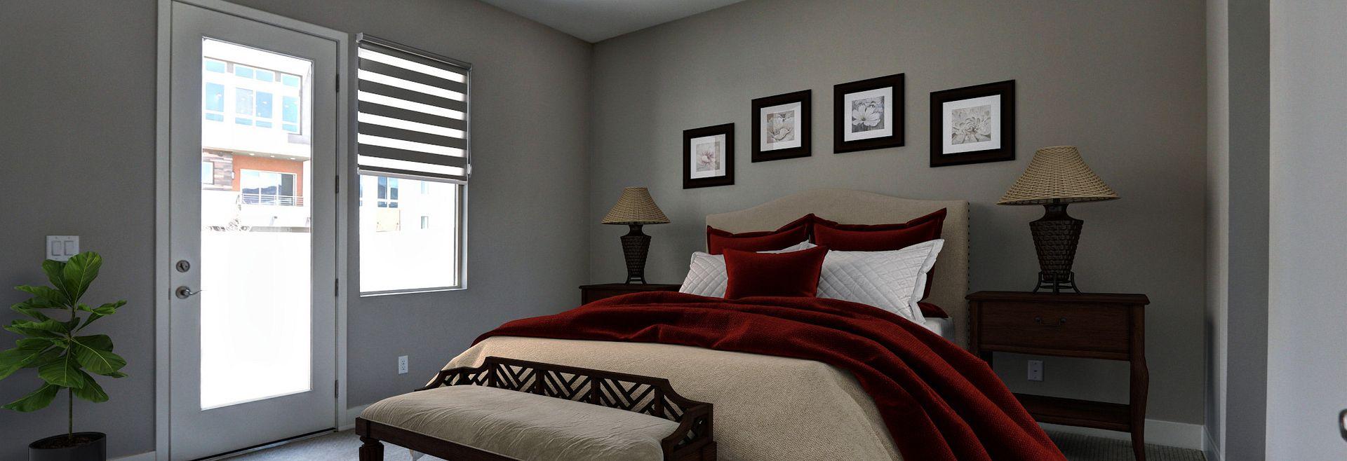 Trilogy Summerlin Splendor Virtually Staged Master Bedroom