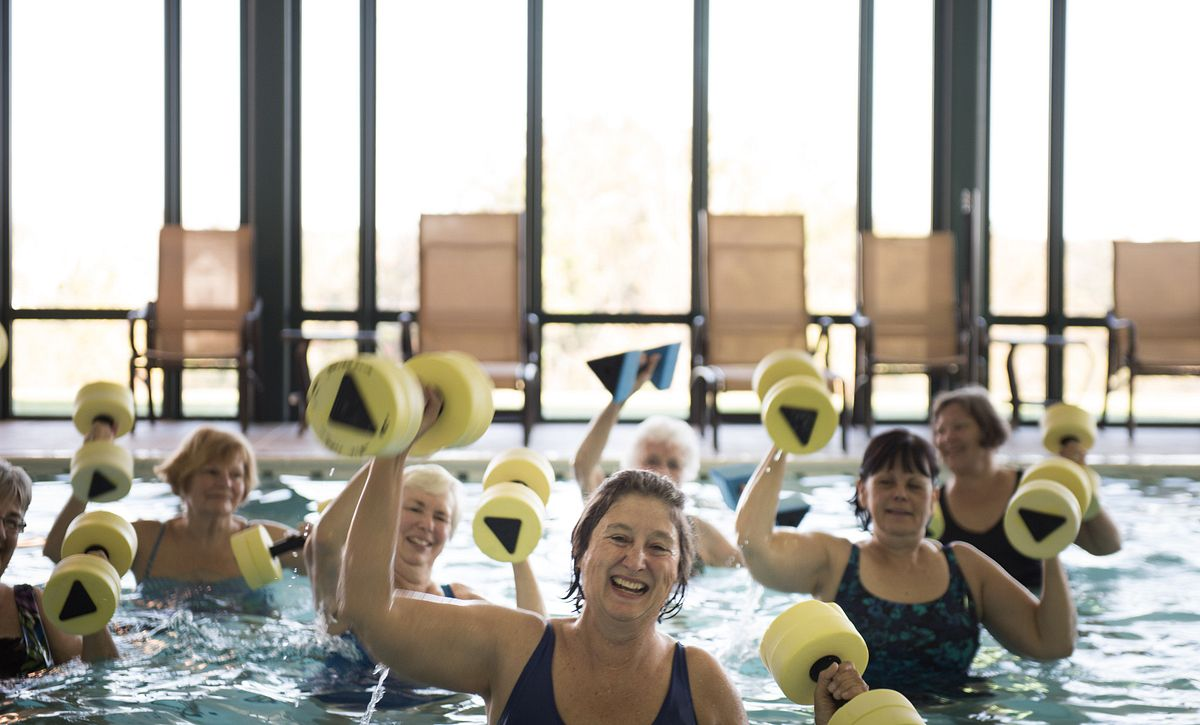 Women doing Water Aerobics