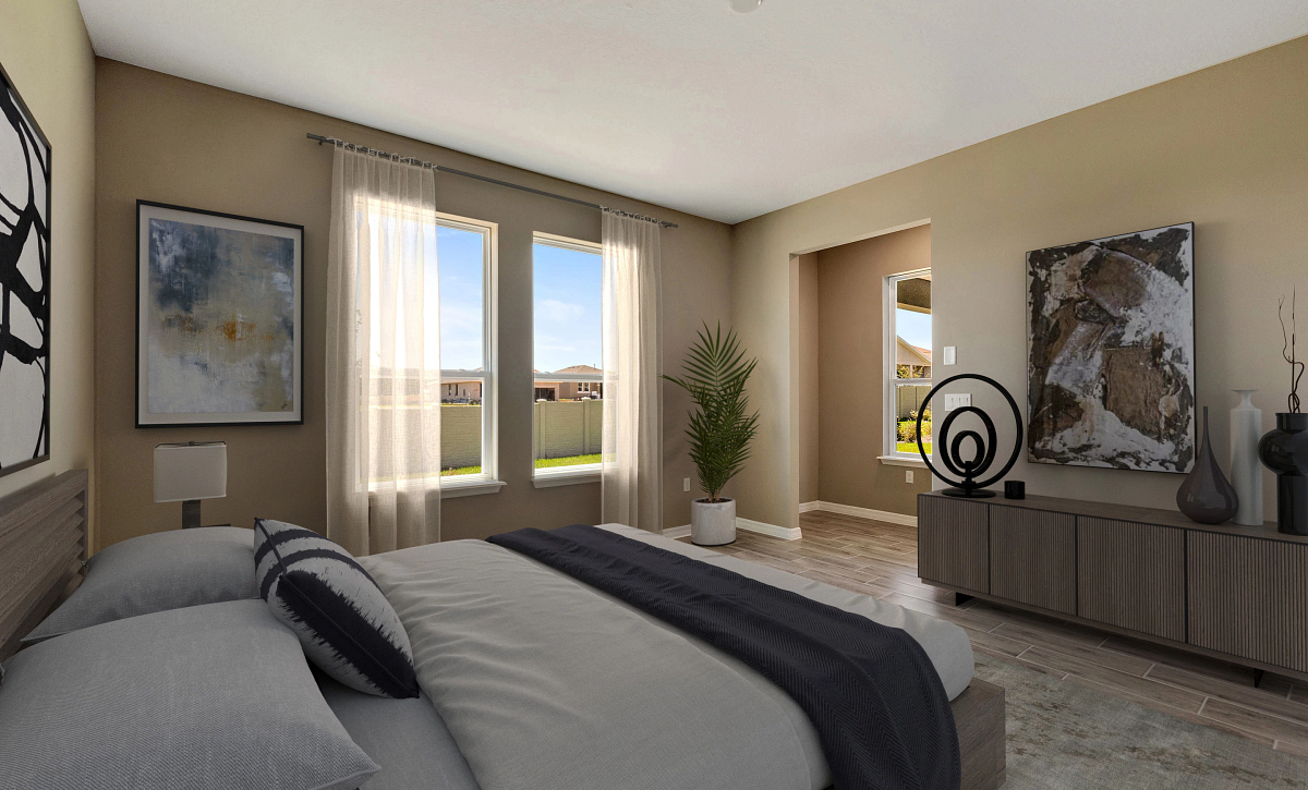 Trilogy Orlando Quick Move In Affirm Virtually Staged Master Bed