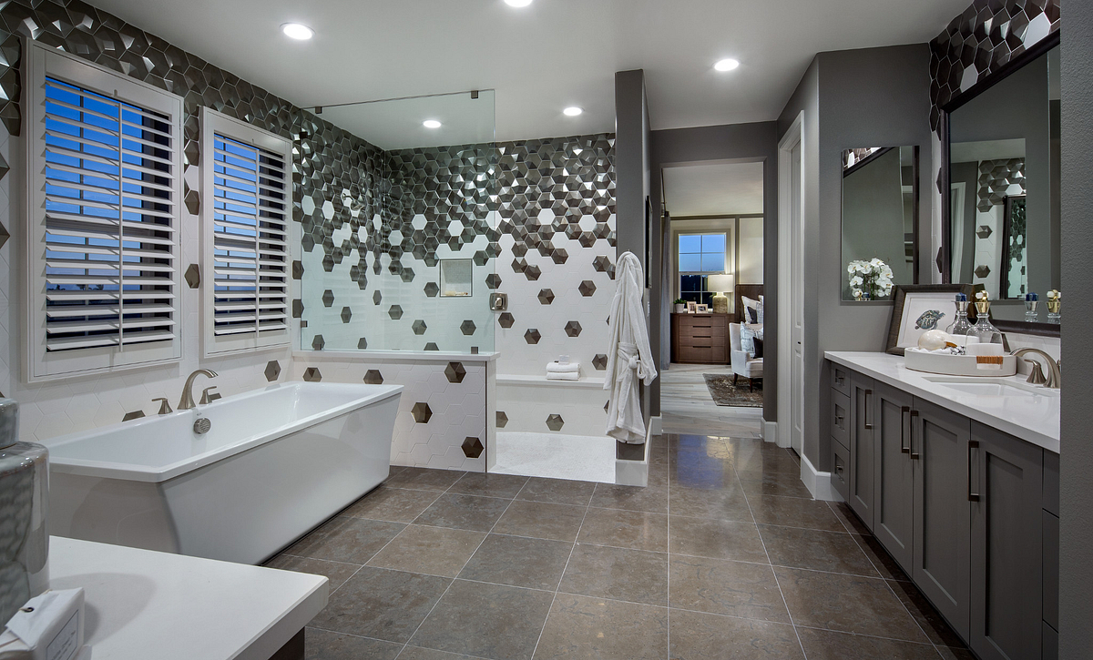 Residence 3 Master Bath with Freestanding Tub