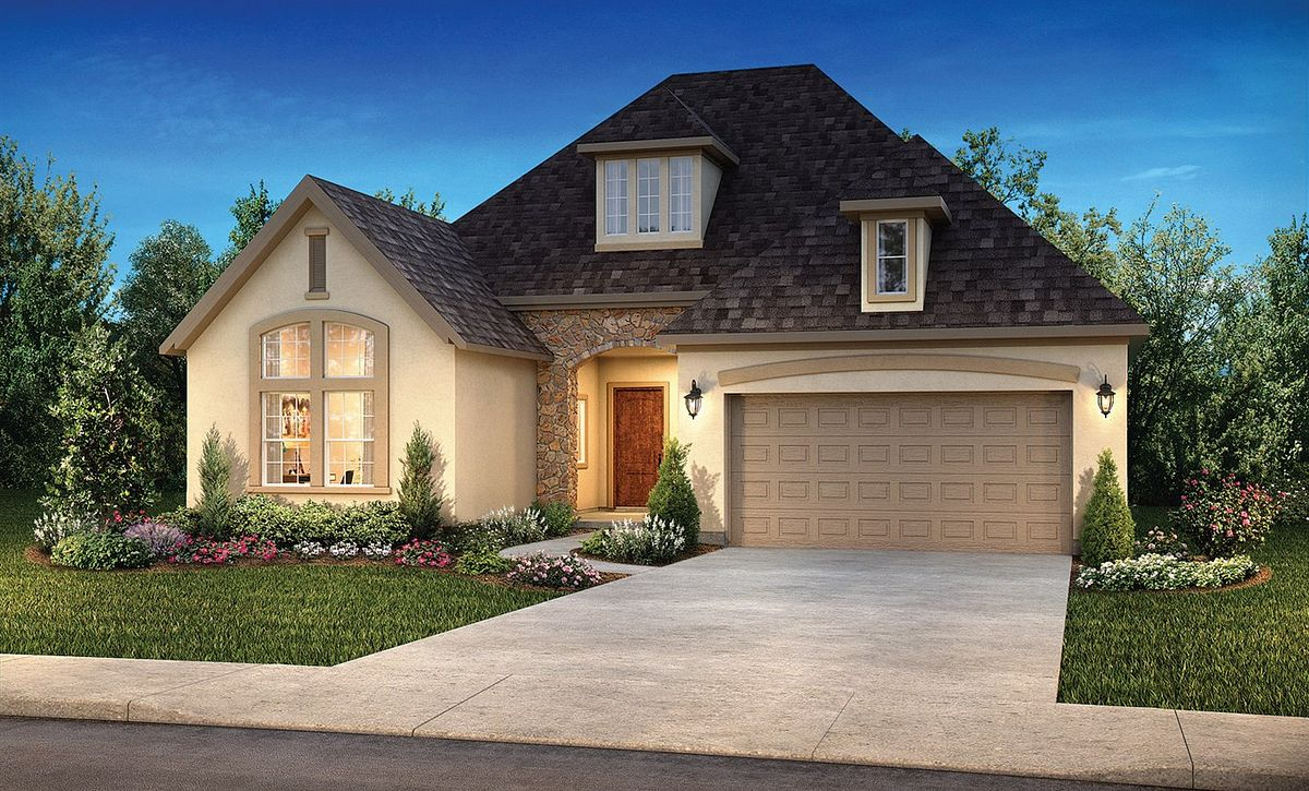 Plan 5136 Exterior C: French Country