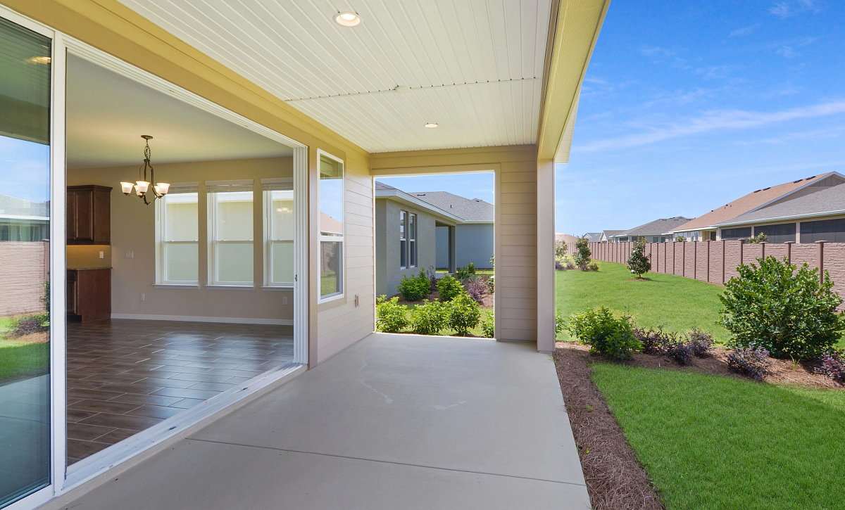 Trilogy at Ocala Preserve Quick Move In Home Refresh Plan Covered Lanai