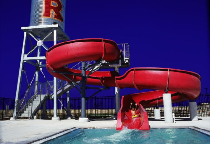 Reunion Community Rec Center Outdoor Pool Slide