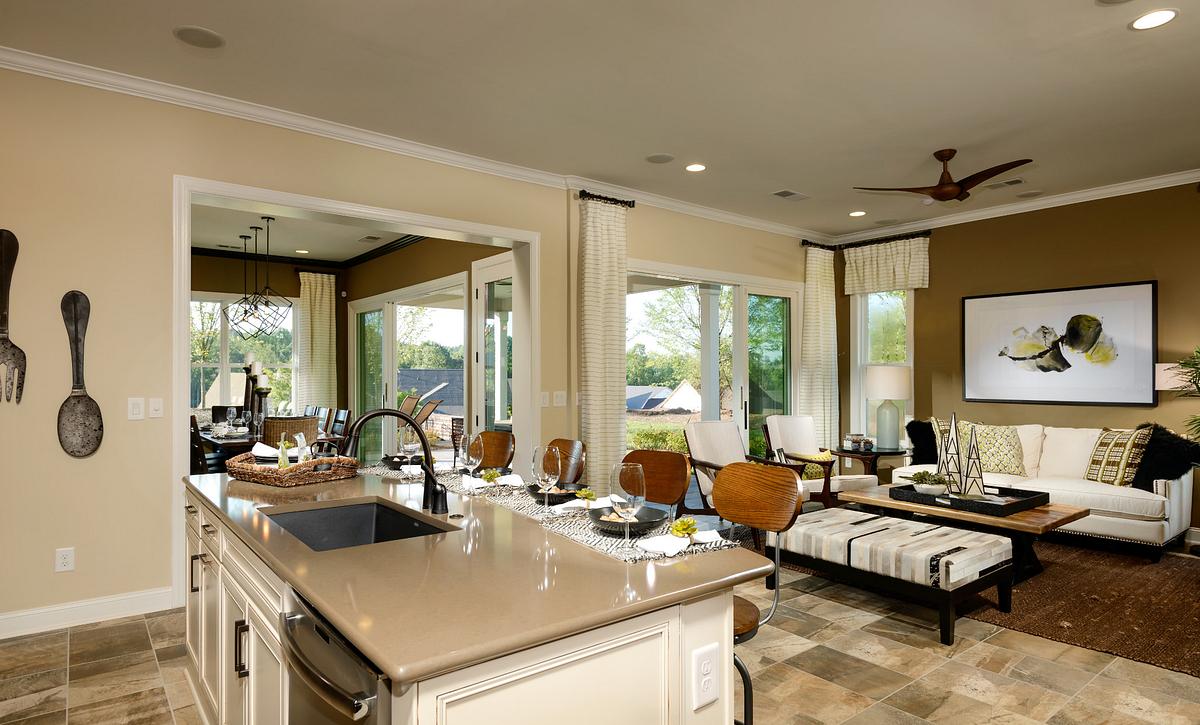 Trilogy Lake Norman Ramsey Plan Kitchen & Great Room