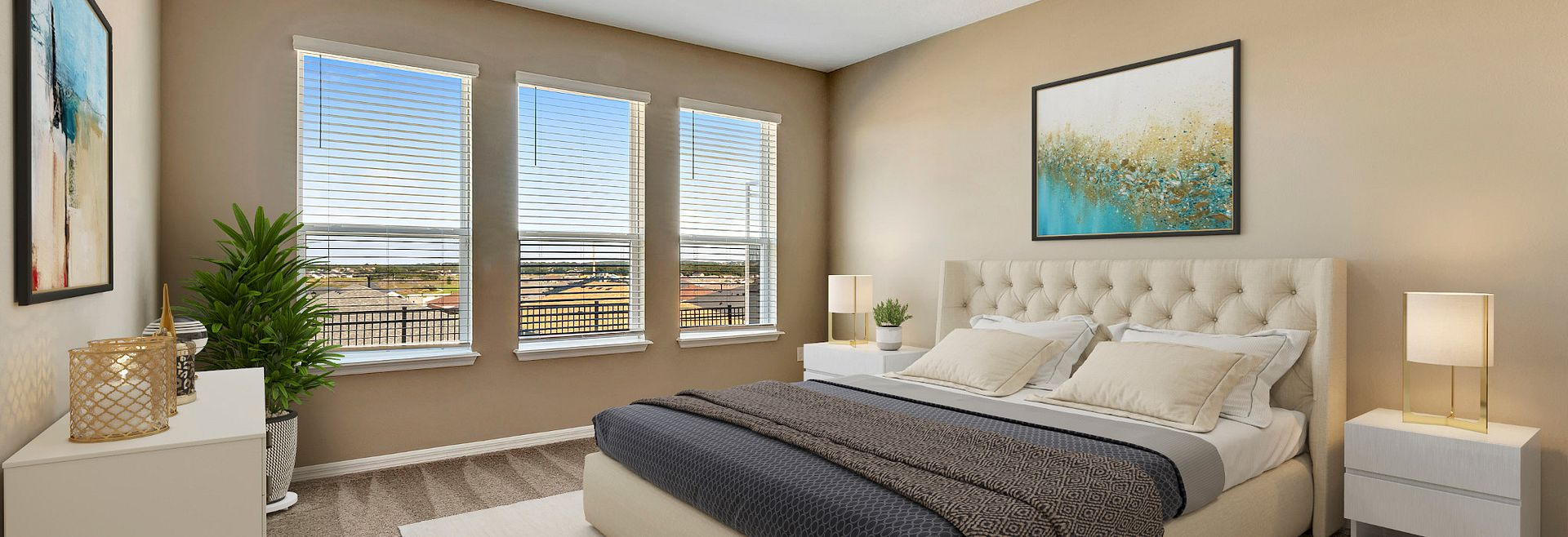 Trilogy Orlando Declare Plan Virtually Staged Master Bed